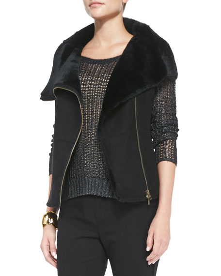 Fisher Project Shearling Fur Leather Vest