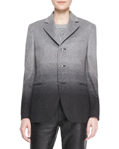 RED Valentino Ombre Wool Boyfriend Blazer