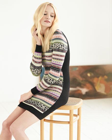 Mixed-Striped Knit Dress