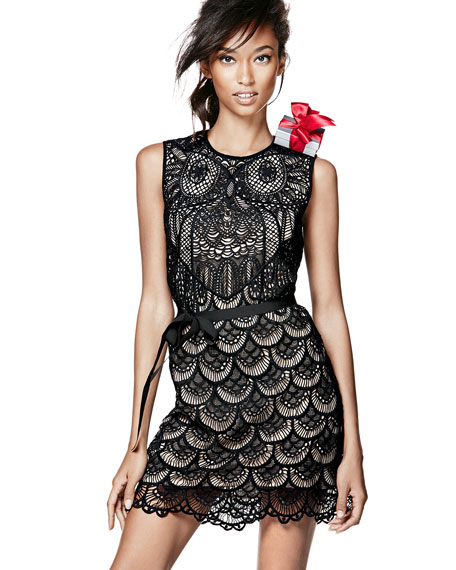 Sleeveless Macramé Owl Dress