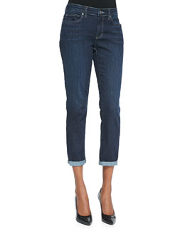 Eileen Fisher Slim Stretch Ankle Jeans, Washed Indigo, Petite