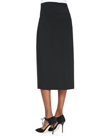 Knee-Length Jersey Skirt, Women's