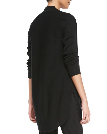 Fine Merino Links Cardigan, Black