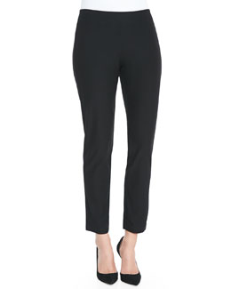 Eileen Fisher Washable Crepe Slim Ankle Pants