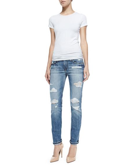 Joe's Jeans Gessa Slouched Slim Leg Distressed Jeans