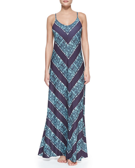 Inga Donna Printed Long Coverup Dress