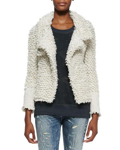 IRO Caty Looped-Knit Sweater Jacket