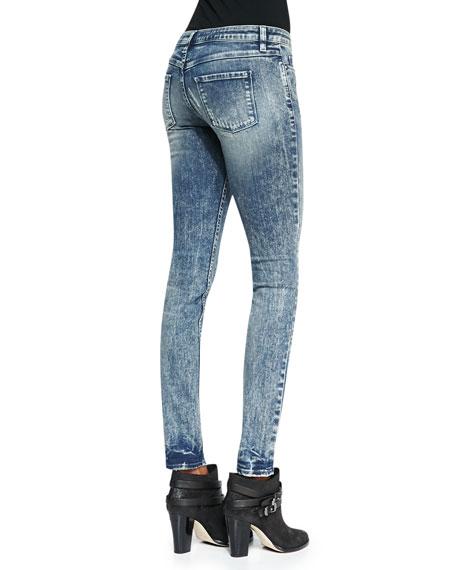 Roxanne Striped Distressed Skinny Jeans