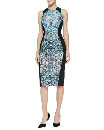 Nha Khanh Storme Panel-Print Sheath Dress