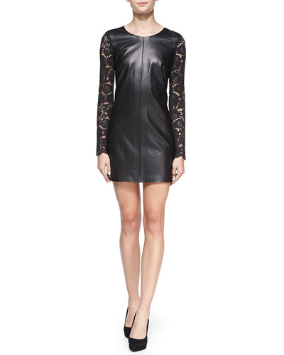 Nha Khanh Jet Long-Sleeve Sheath Dress