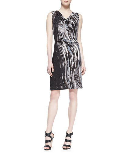 NIC+ZOE Oil Painting Jersey Dress, Women's