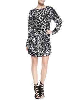 A.L.C. Simona Leopard Print Dress