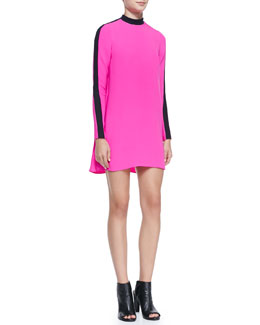 A.L.C. Isley Long-Sleeve Colorblock Dress
