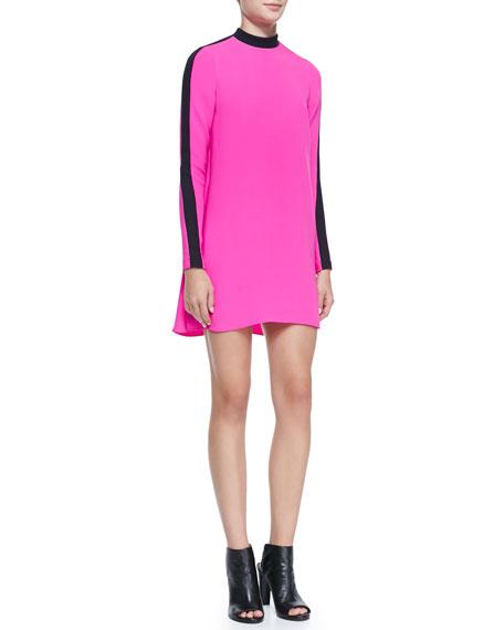 Isley Long-Sleeve Colorblock Dress