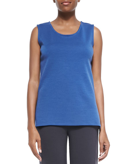 Caroline Rose Wool Knit Longer Tank, Petite