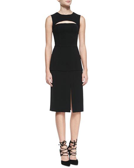 Kaat Cutout Crepe Apron Dress