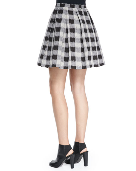 The Awning Pleated A-Line Skirt