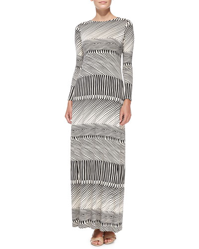 Rachel Pally Stormy Long-Sleeve Maxi Dress