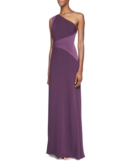 One-Shoulder Open-Back Gown