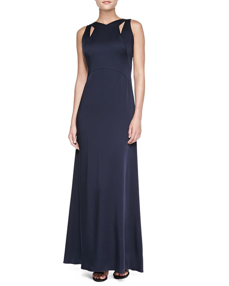 Sleeveless Cutout-Neck Gown