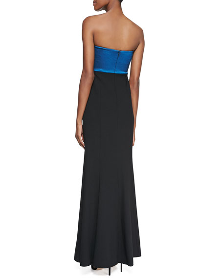 Strapless Ruched-Bodice Gown