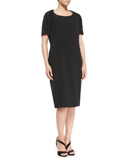 Marina Rinaldi Dativo Crepe Short-Sleeve Dress, Women's