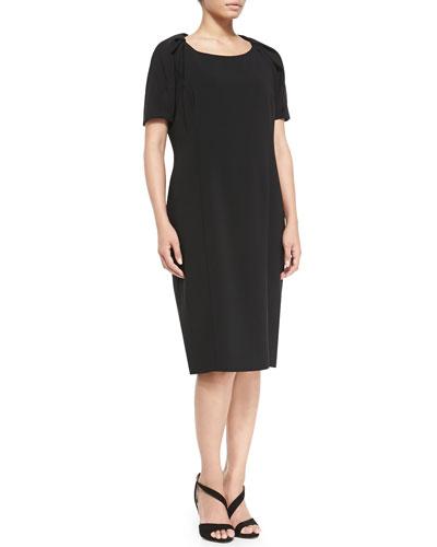 Marina Rinaldi Dativo Crepe Short-Sleeve Dress, Women's