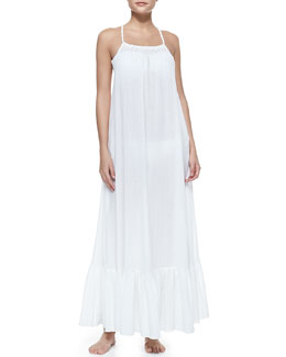 6 Shore Road Mermaid's Voile Square-Neck Maxi Dress