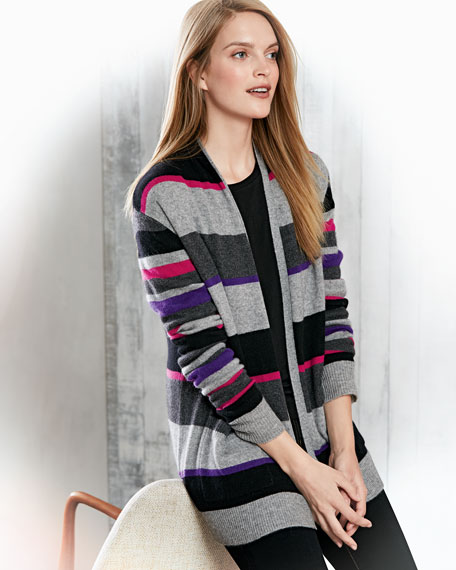 Cashmere 2-Piece Cardigan & Long Sleeve Tee