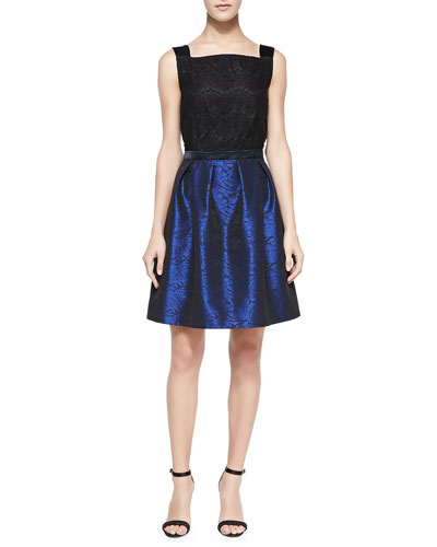 ERIN erin fetherston Sleeveless Lace-Bodice Cocktail Dress