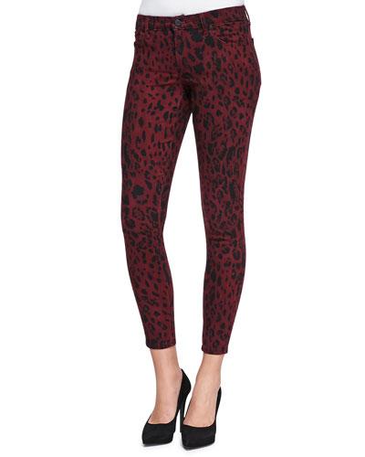 CJ by Cookie Johnson Wisdom Leopard-Print Skinny Ankle Jeans
