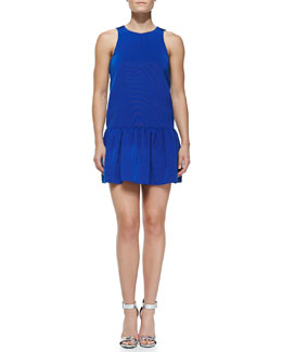 Tibi Katia Sleeveless Flirty Faille Dress