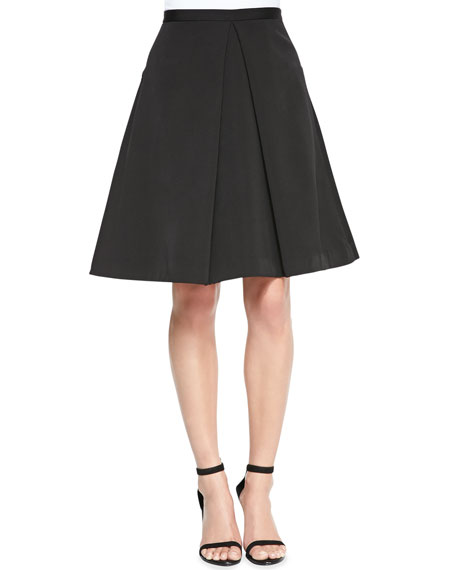 Katia Faille Pleated A-Line Skirt
