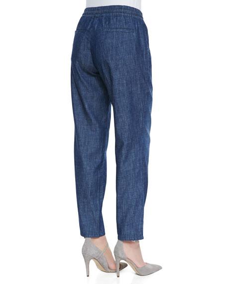Goldie Drawstring Pants, Indigo