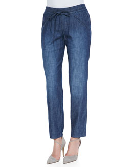 Christopher Blue Goldie Drawstring Pants, Indigo