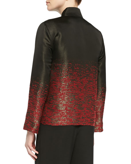 Shimmering Stitch Jacquard Jacket