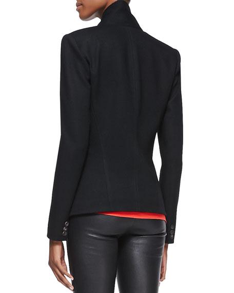 Sonar-Knit Long-Sleeve Blazer