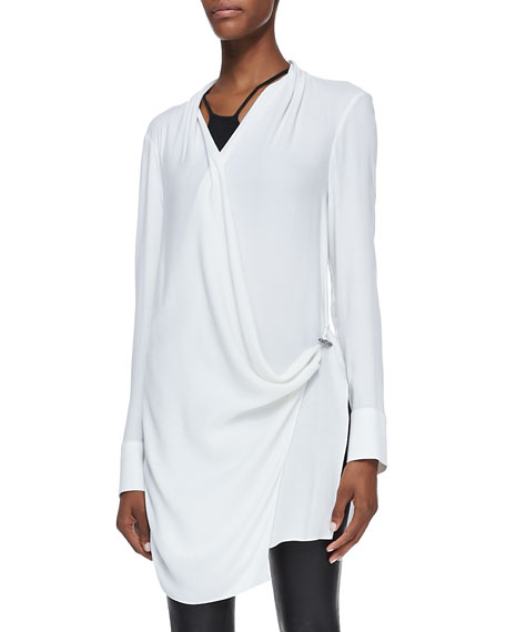 Morse Long-Sleeve Draped Top