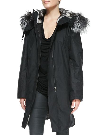 Ultimate Fur-Trim Zip Coat