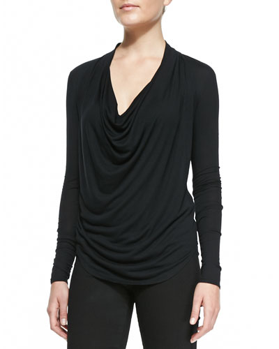Helmut Lang Draped Kinetic Jersey Top
