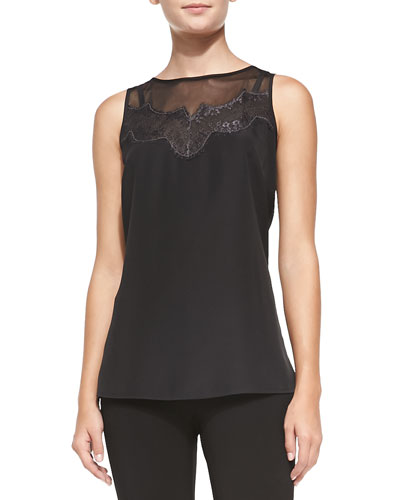 NIC+ZOE CLSSC LACE GLOW TANK