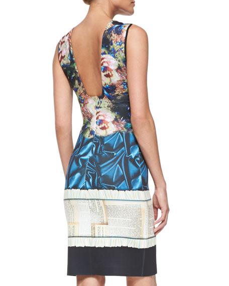 James Joyce Mixed-Print Jersey Dress