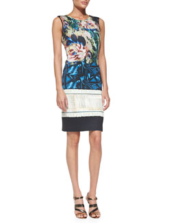 Clover Canyon James Joyce Mixed-Print Jersey Dress
