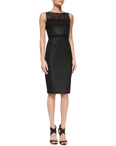 Black Halo Wyatt Colorblocked Sheath Dress