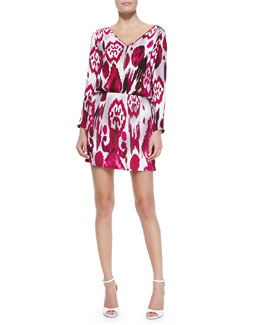 Karina Grimaldi Miranda Printed Jersey Mini Dress
