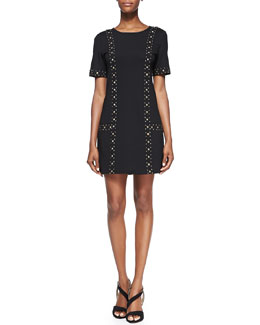 Trina Turk Naomi Studded Ponte Dress