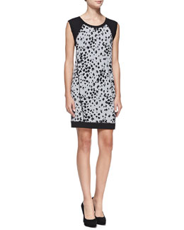 Trina Turk Trixie Leopard-Print Knit Dress