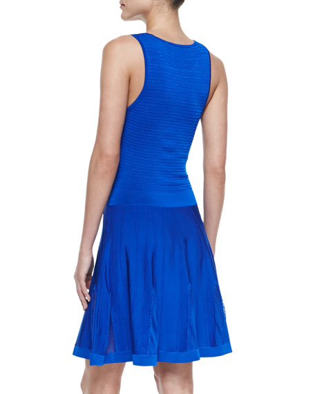 Fairfield Knit Jewel-Neck Dress