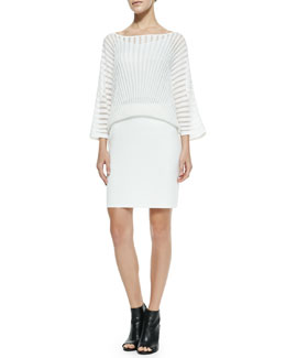 Trina Turk Penrose Overlay & Knit Dress