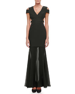 BCBGMAXAZRIA Ava Cutout Mermaid Gown